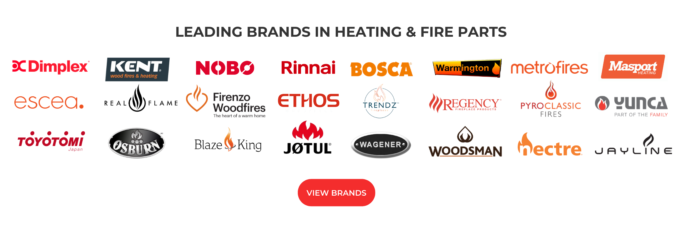 leading heating and fire brands